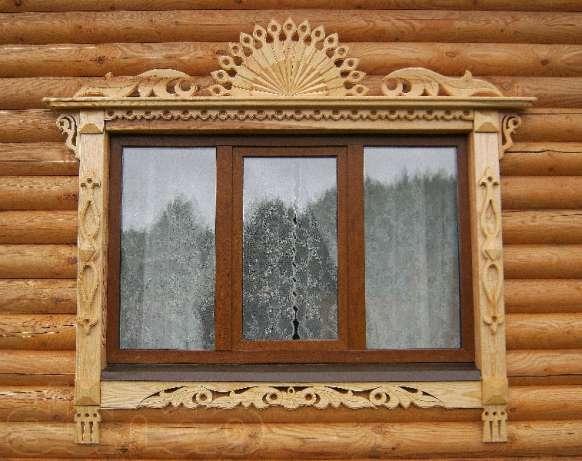 Деревянные наличники на окна резные фото